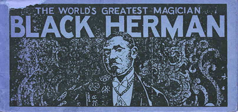 Detail from cover of Black Herman's Secrets of Magic-Mystery & Legerdemain, 1938. Courtesy The Magic Circle Library, London.